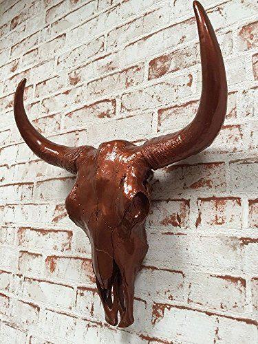 Wanddeko-Wand-Figur-Stier-Kopf-Bffel-Kopf-Bullenkopf-Schdel-in-KUPFER-hochglanz-ca-46-cm-hoch-0