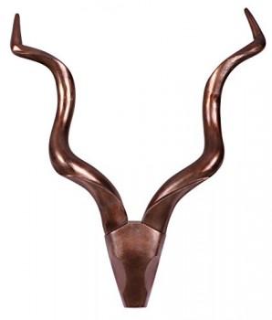 Wanddekoration-Geweih-Deer-L-80-cm-Aluminium-Bronze-Aluminium-B80xT10xH110-0