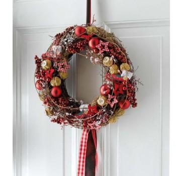 Weihnachtskranz-Sterne-und-Walnsse-aus-Rattan-und-Kunststoff-ca-30-cm--0
