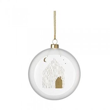 Weihnachtszauber-Posie-Kugel-Haus-10-cm-0
