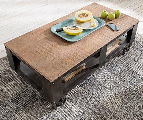 wohnzimmertisch nijaz mango eisen 120x60 cm couchtisch. Black Bedroom Furniture Sets. Home Design Ideas