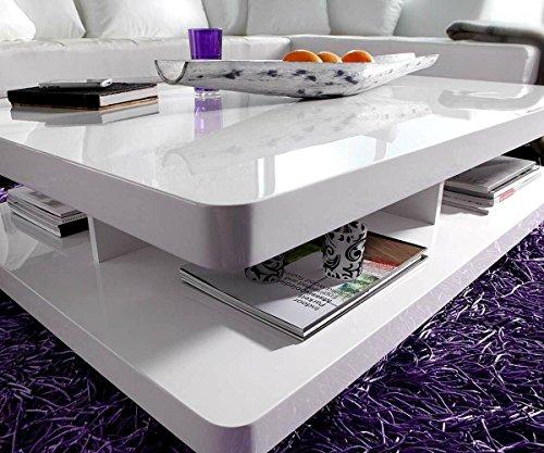 Wohnzimmertisch pocket hochglanz weiss 120x80 cm tisch for Wohnzimmertisch 80 cm