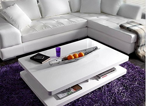 wohnzimmertisch pocket hochglanz weiss 120x80 cm tisch online kaufen bei woonio. Black Bedroom Furniture Sets. Home Design Ideas