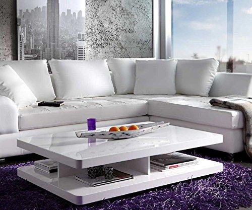 Wohnzimmertisch pocket hochglanz weiss 120x80 cm tisch for Design wohnzimmertisch hochglanz