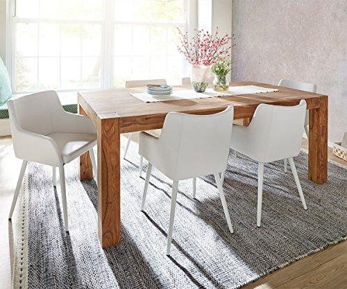 k chenstuhl volcan beine metall weiss mit armlehnen esszimmerstuhl online kaufen bei woonio. Black Bedroom Furniture Sets. Home Design Ideas