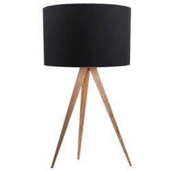 Zuiver-Desinger-Tischleuchte-Tripod-Table-Schirm-schwarz-Fe-natur-0