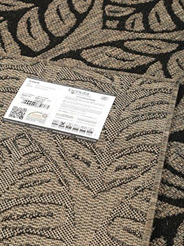 benuta teppiche moderner designer flachgewebe teppich dawn leafs grau 100x150 cm oeko tex. Black Bedroom Furniture Sets. Home Design Ideas