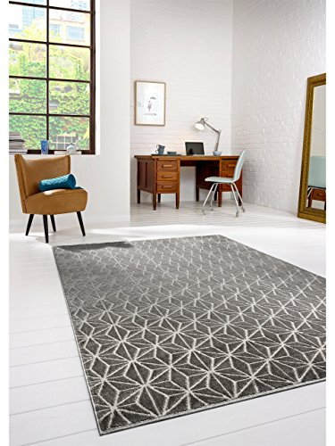 benuta modern designer rug diamond grey 140x200 cm online kaufen bei woonio. Black Bedroom Furniture Sets. Home Design Ideas