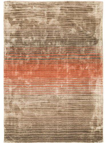 benuta teppiche moderner designer teppich moire viscose orange 200x290 cm schadstofffrei. Black Bedroom Furniture Sets. Home Design Ideas