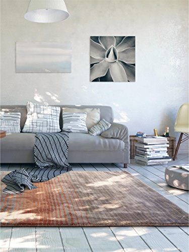 Benuta teppiche moderner designer teppich moire viscose orange 200x290 cm schadstofffrei - Moderne teppiche bilder ...