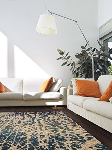 benuta teppiche moderner designer teppich skyway blau 240x340 cm oeko tex standard 100 siegel. Black Bedroom Furniture Sets. Home Design Ideas
