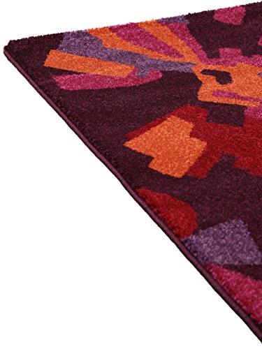 benuta teppiche teppich modern hippie lila 140x200 cm schadstofffrei 100 polypropylen. Black Bedroom Furniture Sets. Home Design Ideas