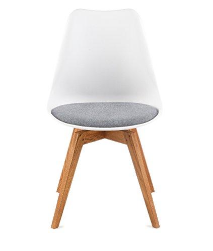 designbotschaft davos stuhl wei grau eiche esszimmerst hle 1 stck online kaufen bei woonio. Black Bedroom Furniture Sets. Home Design Ideas