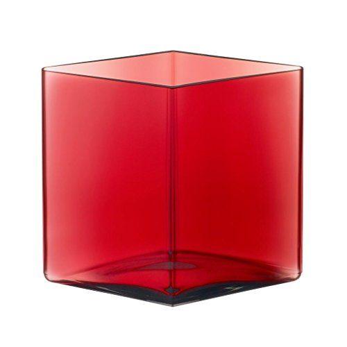 iittala-Ruutu-Bouroullec-Vase-205x180mm-cranberry-rot-rautenform-0