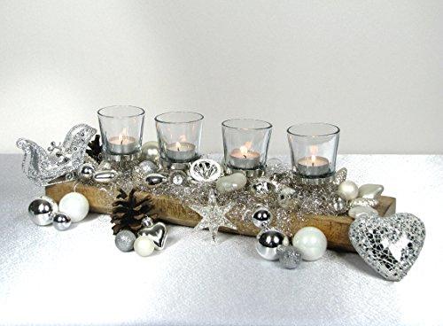 Advent weihnachtsdekoration adventskranz hochwertige for Holzschale dekorieren