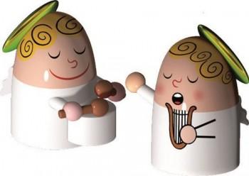 Alessi-Angels-Band-Set-bestehend-aus-zwei-Figuren-Porzellan-Handdekoriert-0-3