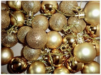 Christbaumkugeln-gold-3cm--Kunststoff-mattglanzGlitter-24er-Pack-0