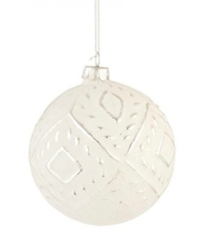 Clayre-Eef-6GL1392-Deko-Dekoration-Anhnger-Weihnachtskugel-wei-ca--10-cm-0