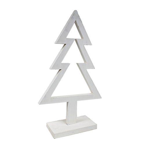 deko tanne wei weihnachtsbaum aus holz ca 51cm hoch. Black Bedroom Furniture Sets. Home Design Ideas