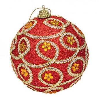 EOZY-10er-Set-Weihnachtskugel-Deko-Glnzend-Baumschmuck-Anhnger-Christmas-Ball-Rot-2-0