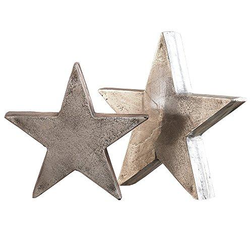 loberon deko sterne 2er set big star antiksilber online. Black Bedroom Furniture Sets. Home Design Ideas