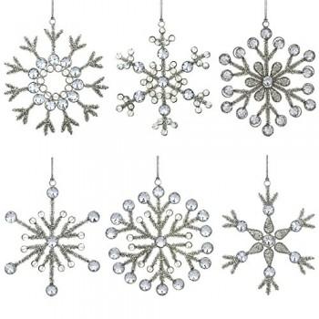 Set-aus-6-handgefertigten-Schneeflocken-Weihnachtsschmuck-aus-Eisen-und-Glas-zum-Aufhngen-15-Cm-0