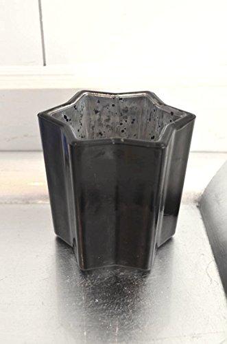 Sternwindlicht teelicht aus glas stern schwarz black for Weihnachtsdeko schwarz