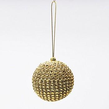 Strass-Christbaumkugel-Kunststoff-in-zwei-Farben-und-Gren-Farbe-gold-Gre-6-cm-0