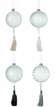 TRODDELKUGEL-Sortiment-8-Stck-Christbaumkugeln-Weihnachtskugeln-gefrostete-Glaskugeln-Rder-Design-0
