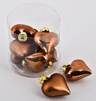 Weihnachtskugel-Herz-Premium-10er-Set-Glas-5x4x2cm-kupfer-Xmas-0