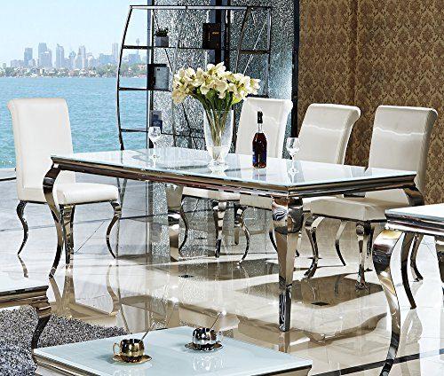 Designer luxus esstisch 180 x 90 x 76 lara esszimmer b ro for Designer esstisch edelstahl