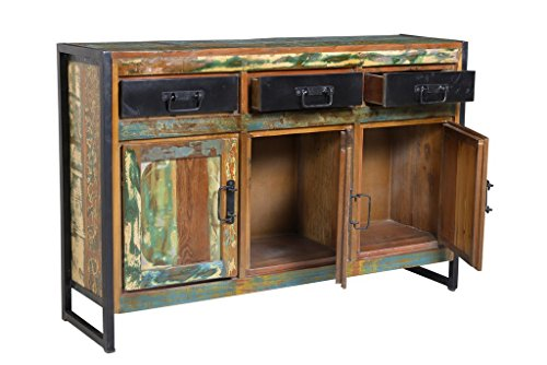 dreams4home sideboard massivholz 39 mauritius 39 vintage holz. Black Bedroom Furniture Sets. Home Design Ideas