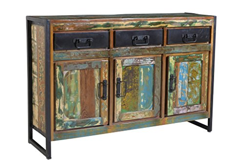 dreams4home sideboard massivholz 39 mauritius 39 vintage holz kommode anrichte online kaufen bei woonio. Black Bedroom Furniture Sets. Home Design Ideas