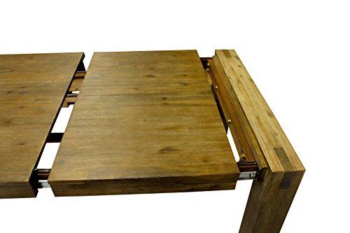 esstisch auszug akazie wohnzimmertisch tisch massivholz. Black Bedroom Furniture Sets. Home Design Ideas