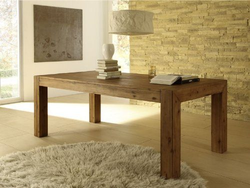 Esstisch Designer Tisch Massiv Ausziehbar 160 220x90 Cm Akazie