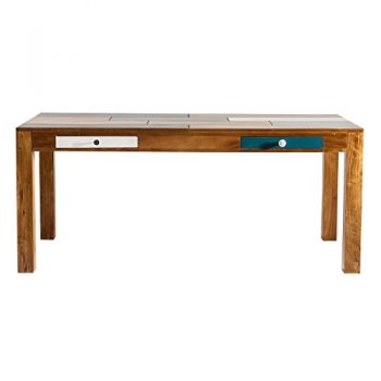 Esstisch-Esszimmertisch-Babalou-180x90-Kare-Design-Holz-Braun-Bunt-Breite-180-cm-Tiefe-90-cm-Hhe-77-cm-0