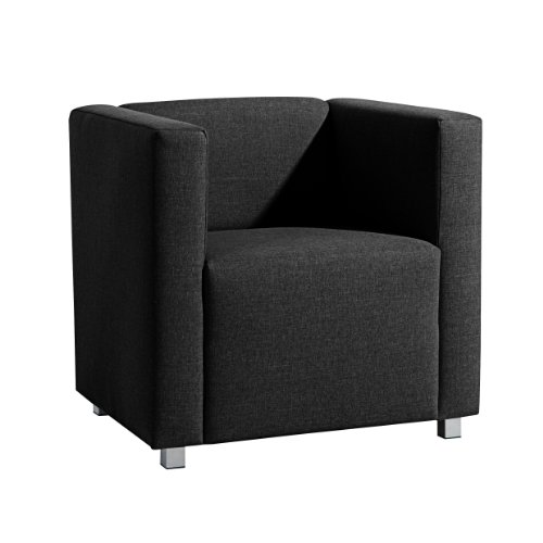 max winzer 25392 1100 1645240 kubischer loungesessel corrado leinenoptik schwarz online kaufen. Black Bedroom Furniture Sets. Home Design Ideas