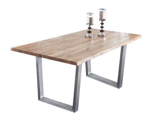 Presto-mobilia-11000-Esstisch-Massivholztisch-Tisch-Castillo-66-200-x-100-x-77-cm-massiv-Eiche-gelt-0