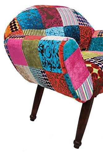 Retro sessel patchwork velvet colore kare online kaufen for Ohrensessel kare