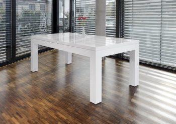 SalesFever-Esstisch-180x90-cm-ausziehbar-wei-hochglnzend-Luke-0