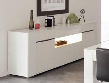 Sideboard-Ceren-3-wei-Hochglanz-Melamin-201x84x52-cm-Schrank-Wohnzimmer-Esszimmer-0