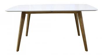 Tenzo-2184-001-Bess-Designer-Esstisch-Tischplatte-MDF-lackiert-Matt-Untergestell-massiv-75-x-160-205-x-95-cm-wei-eiche-0