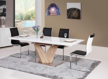 Tisch-Esstisch-Esszimmertisch-Sulentisch-90x160-220-Hochglanz-wei-ausziehbar-ALARAS-0