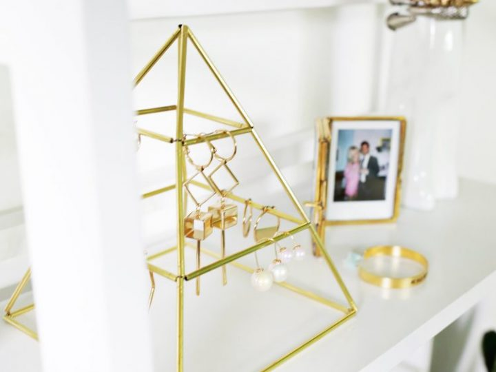 Eye-Catchy DIY Brass Pyramid To Display Your Earring