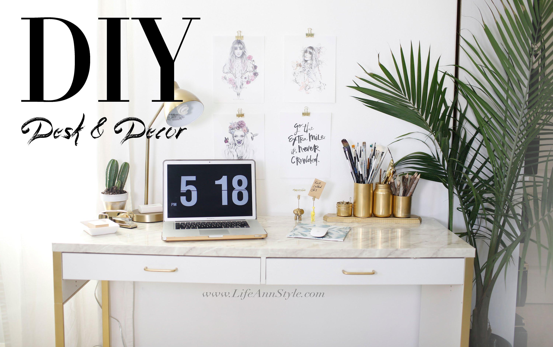 wie du deinem ikea schreibtisch und home office einen. Black Bedroom Furniture Sets. Home Design Ideas