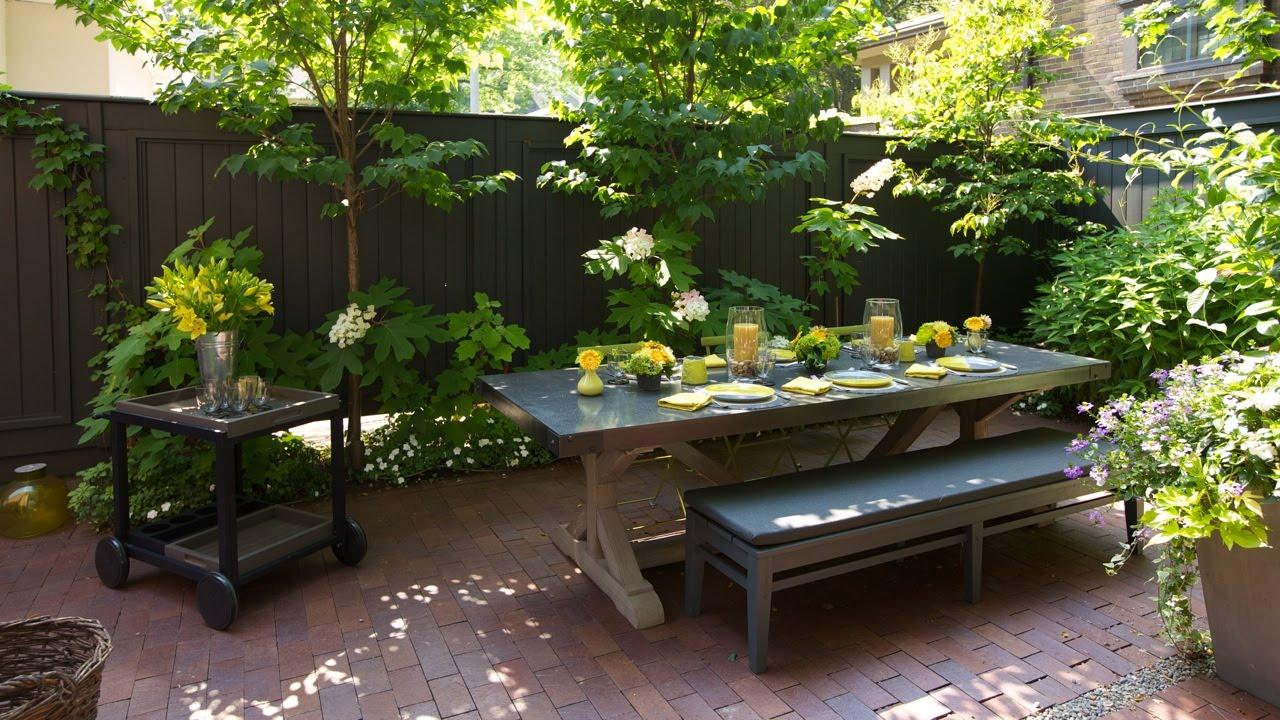 tolle ideen f r einen wundersch nen hinterhof garten wohnidee by woonio. Black Bedroom Furniture Sets. Home Design Ideas