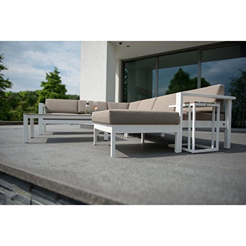 4seasons outdoor cosmo 6 teilige loungegruppe inkl kissen alu weiss online kaufen bei woonio. Black Bedroom Furniture Sets. Home Design Ideas