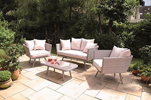 60er jahre luxus poly rattan lounge glamrock mit wasserabweisenden kissen von forma outdoor. Black Bedroom Furniture Sets. Home Design Ideas