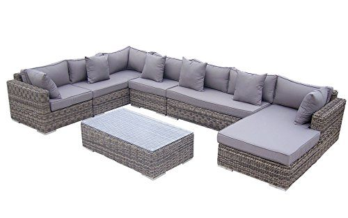 Baidani rattan lounge garnitur perfection aus der collection ronde online kaufen bei woonio for Lounge garnitur garten