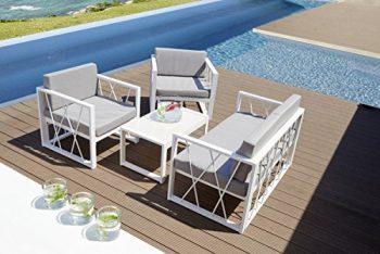 Dreams4Home-Lounge-Set-Ruhny-4tlg-Set-Lounge-Sofa-2-x-Sessel-Tisch-Polster-Kissen-Loungembel-Balkonmbel-Gartenmbel-Aluminium-Polyester-Sicherheitsglas-in-wei-grau-0